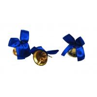 Колокольчик для первоклассника с синей атласной ленточкой
