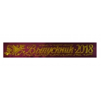 Ленты для выпускников 2018г бордовые , атлас