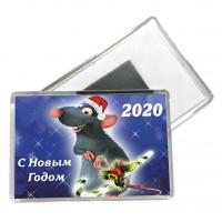 Акриловые магниты 55*80мм - С Новым 2020 годом