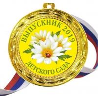 Медаль - выпускник детского сада 2022г - цветная
